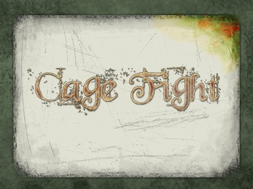 Cage Fight - Title Screen