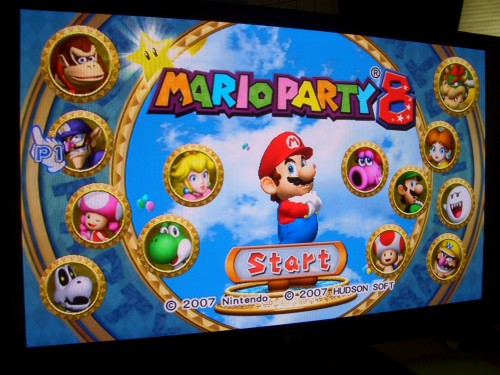 Mario Party 8 - Title Screen